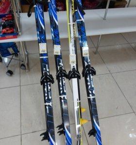 Лыжи комплекты крепление 75мм +Палки 170 см