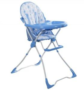 продается детский стул для кормления--синего цвета