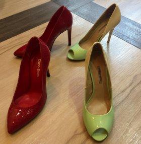 Туфли бренд Dario Bruni красные и Massimo Renne 36
