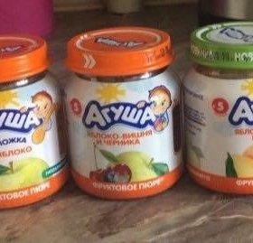 Фруктовые пюре Агуша