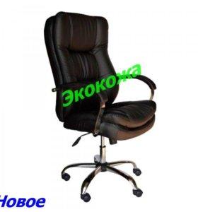 Кресло руководителя Авакадо эко кожа черная
