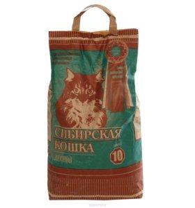 Кошачий наполнитель Сибирская кошка Лесной.