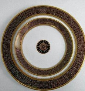 Набор тарелок Gold peony, распродажа, скидка 50%