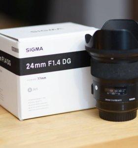 Sigma 24 F1.4 DG Art на Canon