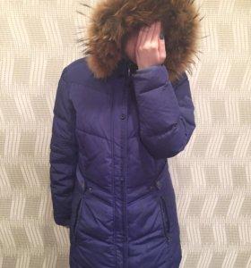 Пуховик зимний теплый