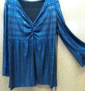 Новогодняя блузка 50 размер