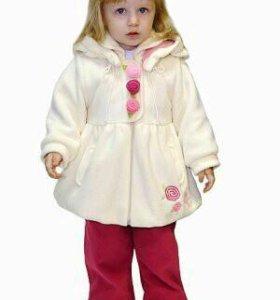 Пальто с комбенизоном дев 80-86