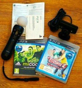 Продам sony move + камера ps3 и с ним две игры.