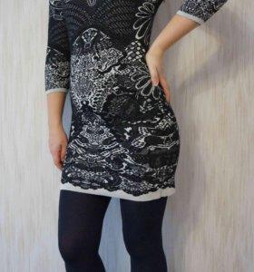 Стильное вязанное платье 42-44