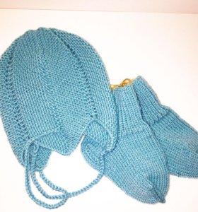 Набор шапочка+носочки