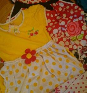 Новые платья для девочек 4-5-6 лет
