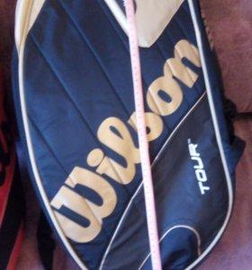 Сумки новые для тенниса Вилсон черная и красная