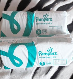 Подгузники Pampers, 104 шт. Размер 3 (5-9 кг)