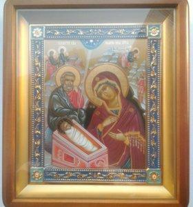 Икона Рождество - Софрино в киоте новая