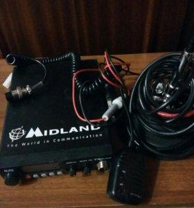 Радиостанция (рация для авто)+антенна.