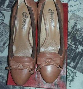 Туфли новые кожаные 37р.