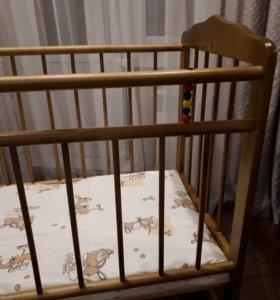 Новая кроватка и матрас