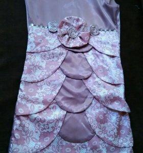 Милое фиолетовое платье на любой случай