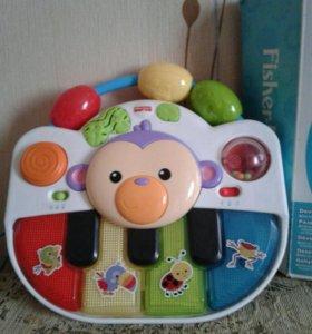 """Детское пианино """"обезьянка"""". Игрушка фишер прайс"""