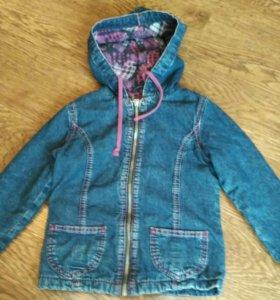Джинсовая куртка на флисе