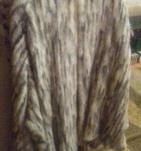 Шуба из вязанной норки