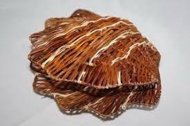 Плетёное кашпо ракушка диаметр 26см