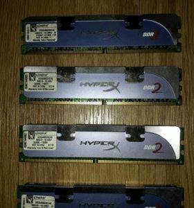 Память Kingston DDR2 4*2Gb 800MHZ KHX6400D2K2/4G