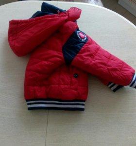Деми куртка Sweet Berry + шапка и шарф р.98-104