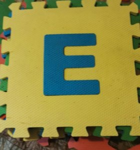 Коврик пазл детский алфавит