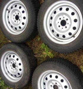 Продам или обменяю колеса в сборе зимняя резина