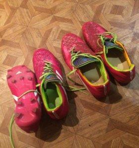 Бутсы (adidas Predator) розового цвета