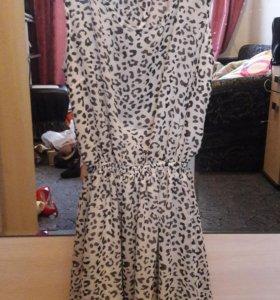Летнее леопардовое платье H&M