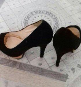 туфли женские замш.