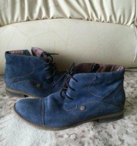 Ботинки натуральная замша 40 размер
