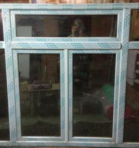Окно пластиковое хамелеон