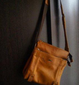 Кожаная сумка мужская,новая