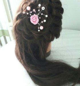 Прически и украшения для волос ручной работы