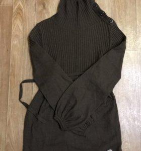 Удлиненный свитер adidas