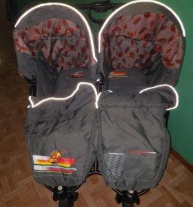 Детская коляска для двойни зима -лето