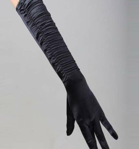 Длинные черные перчатки (новые)
