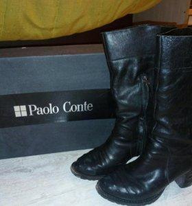 Сапоги весна осень кожа Paolo Conte