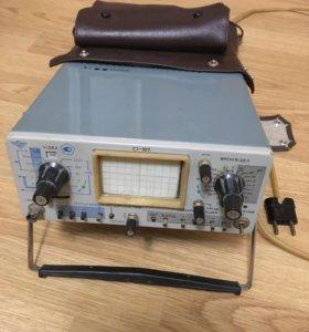 Осциллограф с1-107 в спец кожаной сумкой
