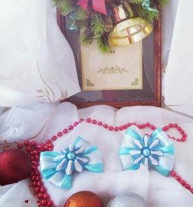 Резинки для волос новогодние