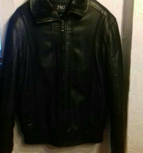 Новая кожаная куртка на меху