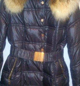 Новое Зимнее Пальто Натуральный Мех Биопух