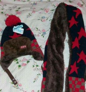 Новый шапки и шарфы