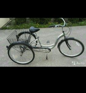 Трёхколёсный взрослый велосипед stels