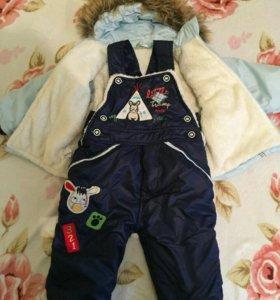 Детский комбинзон с курткой