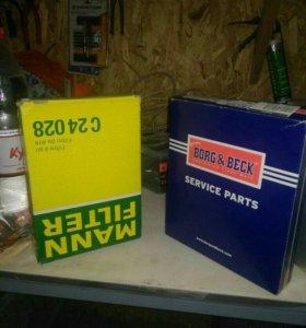 Фильтр воздушный и фильтр салона на Шев Авео т300