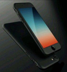Чехол Fullcase + стекло для всех Iphone 5,6,7,8